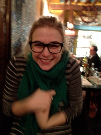 "J called it my ""Paris Face,"" taken at our first meal upon our (late evening) arrival!"