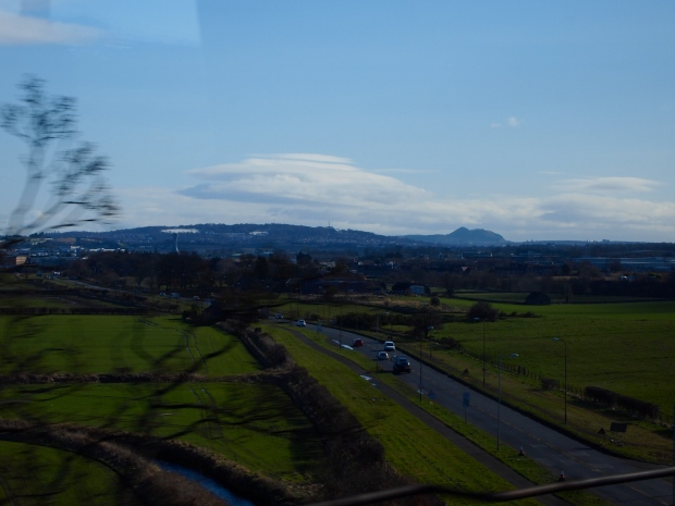 The view of Arthur's Seat some twenty miles away from Edinburgh!