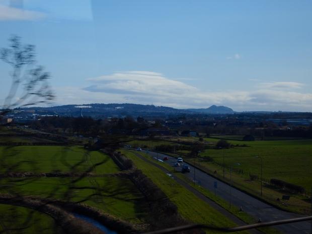 The view of Arthur's Seat some twenty miles away from Edinburgh!