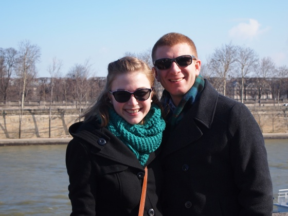 Day one: first photo on the Seine riverbank!