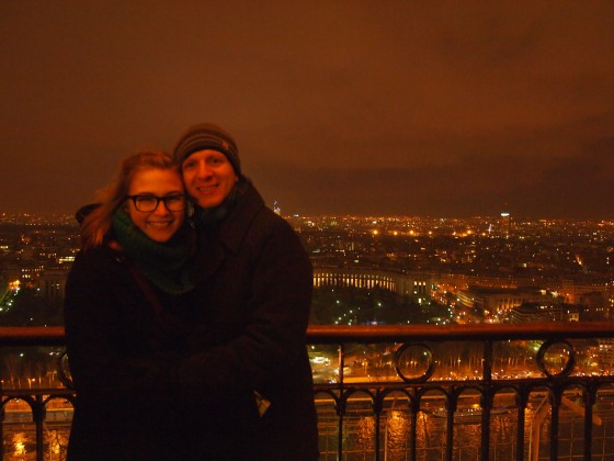 On the second floor of La Tour Eiffel!