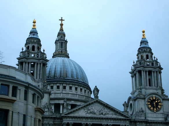 The view of Saint Paul's from the top of our bus!