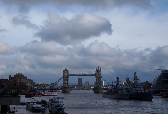 The view of the Tower Bridge from across the Thames!