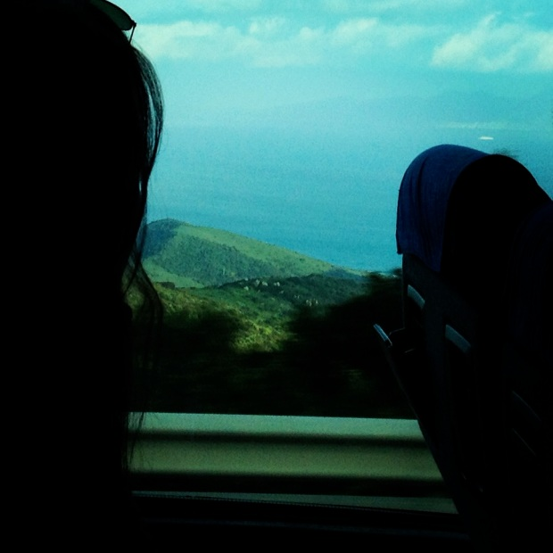 The Strait of Gibraltar from our bus ride through the mountains!