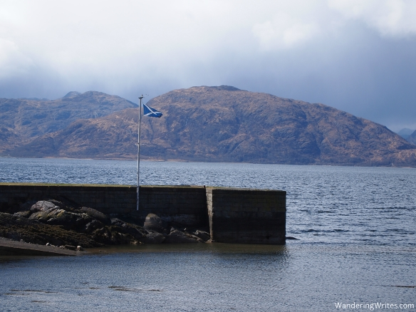flag on the loch