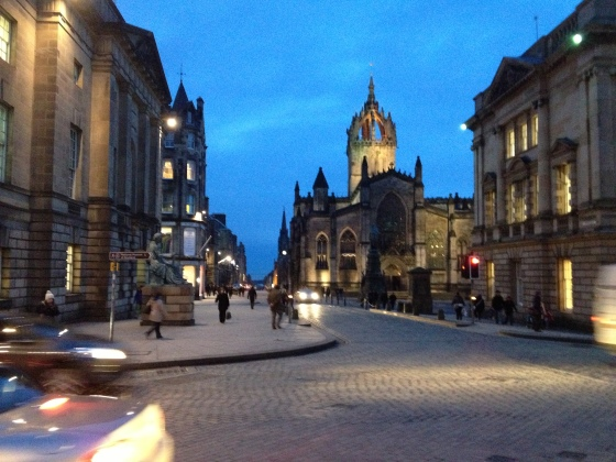 St. Giles by night.