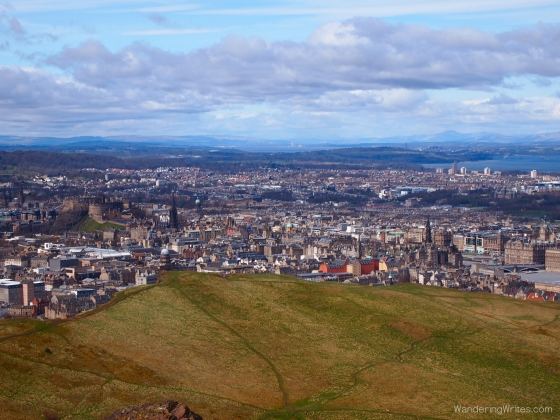 Overlooking the city from Arthur's Seat!