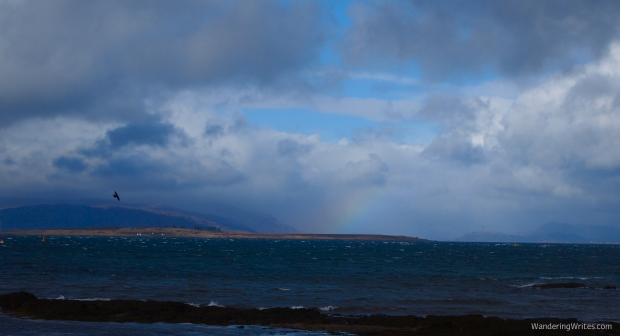 Rainbow over the sea!