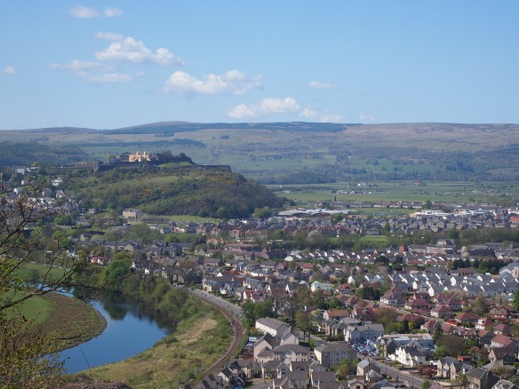 The view of Stirling from the Wallace Monument!