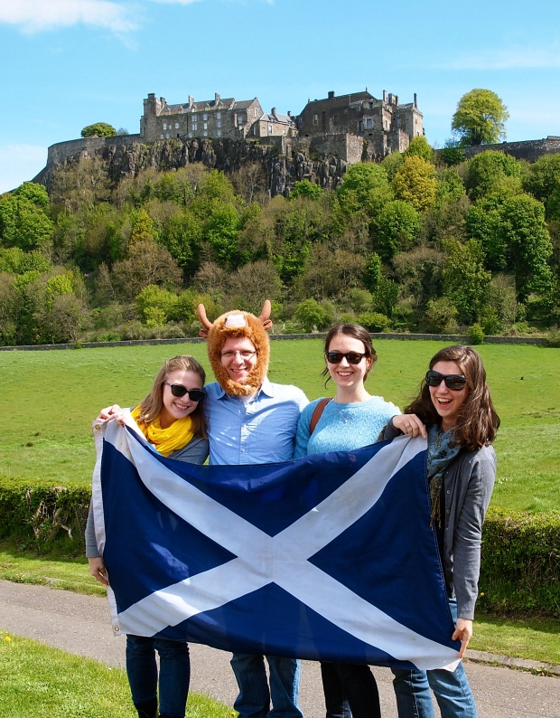 My favorite shot of the daytrip! Taken by Stirling Castle. (J should always wear a Hairy Coo hat, should he not?)
