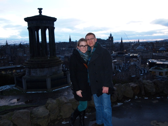 Us on Calton Hill in March.