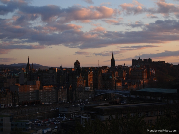 Sunset from Calton Hill.