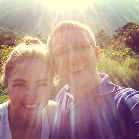 Sun-dappled photo opp in the Blue Ridge Mountains!