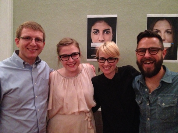 With the incredible Erin Lane, co-editor, her husband Rush and my own Jonathan at the event!