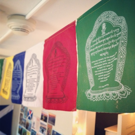 Day 13: Justice. Tibetan prayer flags, a gift from my brother Thom.