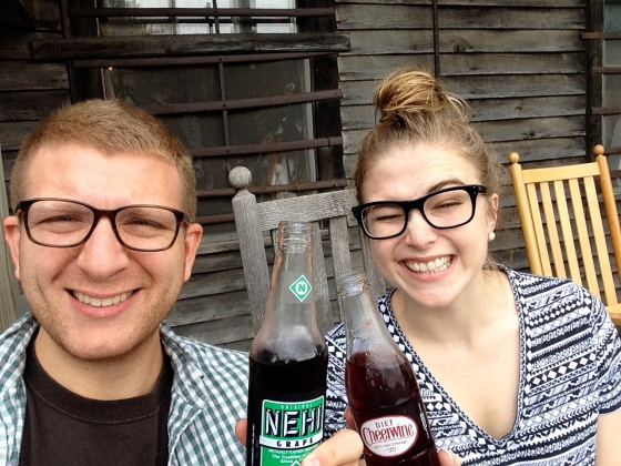soda bottles on the porch of mast general in valle crucis!